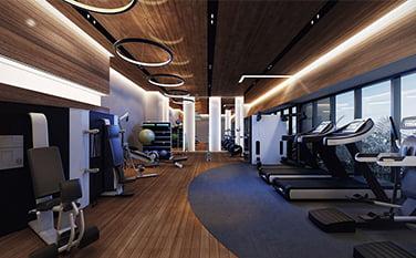 fitness- salonu tavan kaplama
