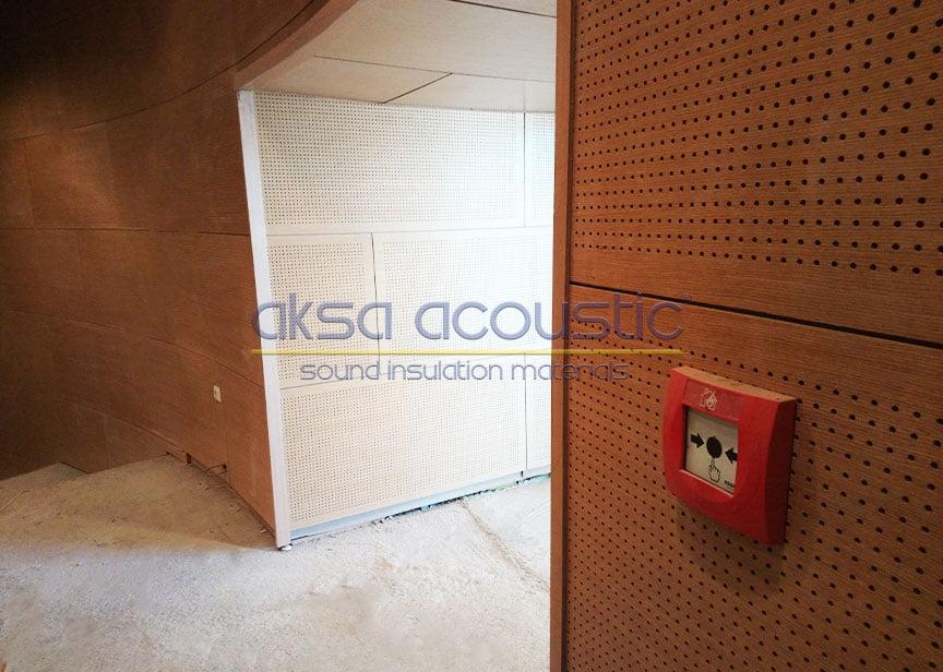 1000 delikli akustik ahşap paneller