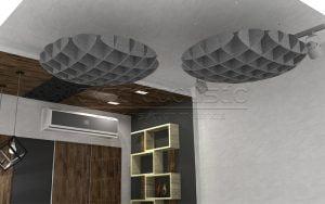 acoustic polyester felt waffle panels