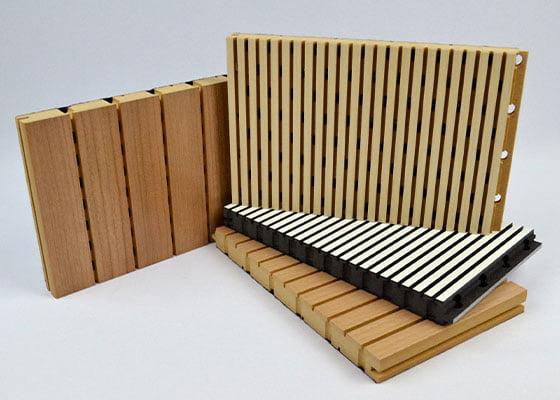 ahşap akustik derzli panel