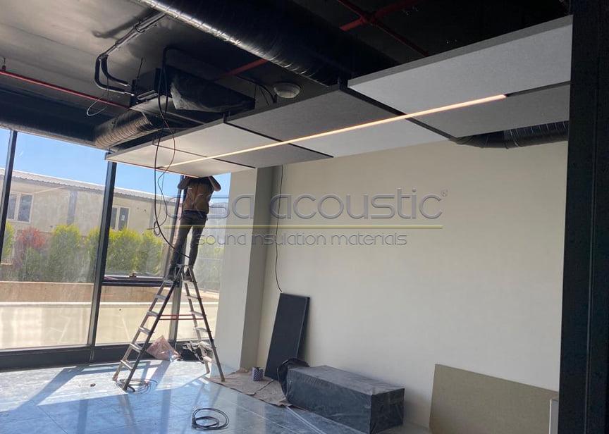 aksa acoustic ceiling fabric panels