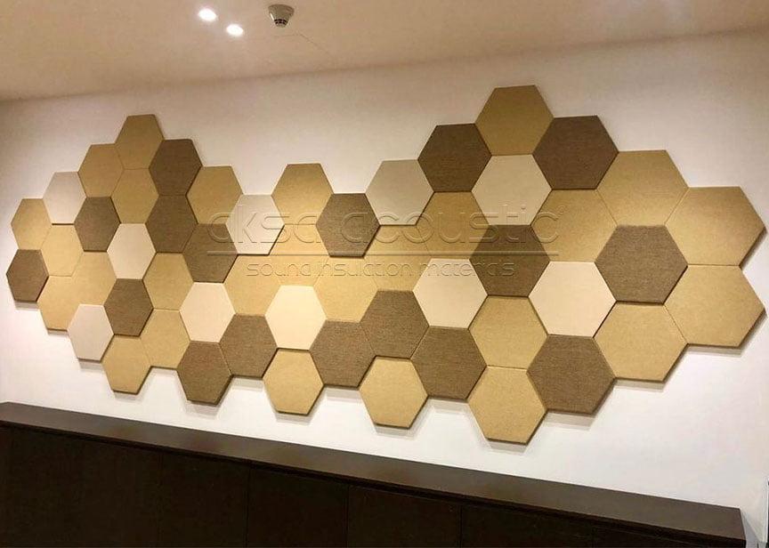 aksa akustik altıgen kumaş kaplı panel fiyatları