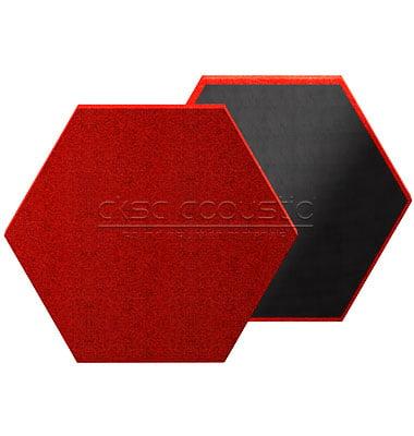 aksa akustik altıgen kumaş kaplı panel