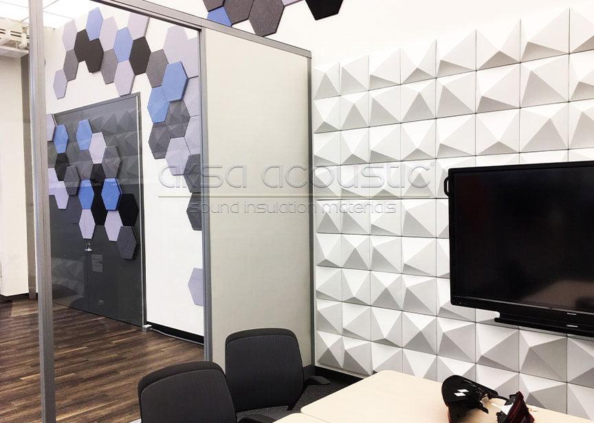 akustik 3d keçe duvar paneli