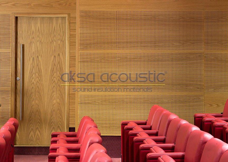 akustik ahşap delikli derzli duvar paneli