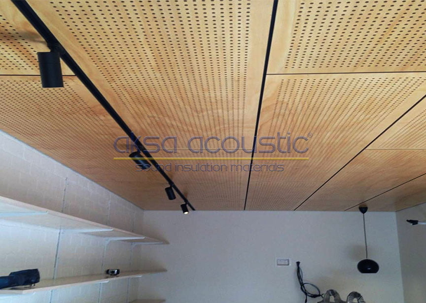 akustik ahşap tavan panelleri