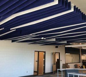 akustik baffle tavan kaplamaları