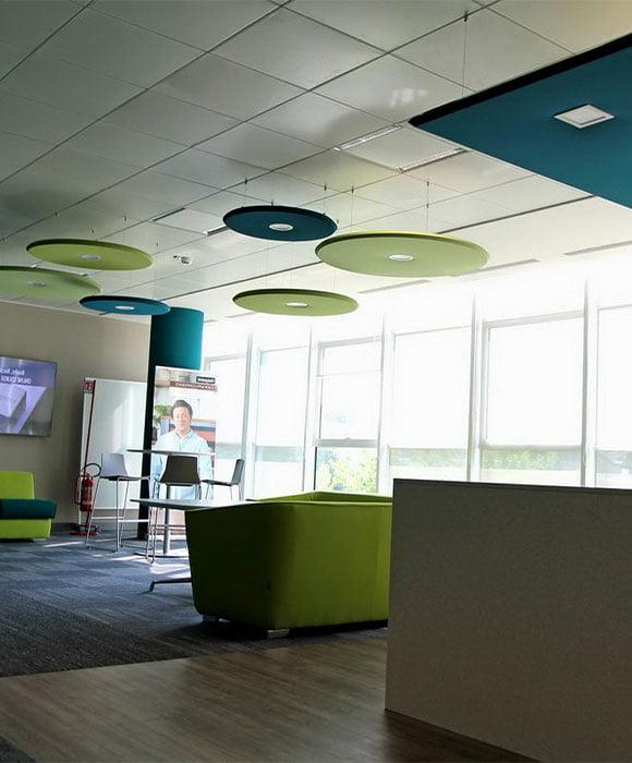 akustik daire altıgen ışıklı tavan paneli fiyatları
