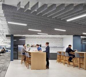 akustik felt baffle panel tavan kaplama