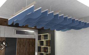 akustik keçe panel baffle model polyester acoustic felt