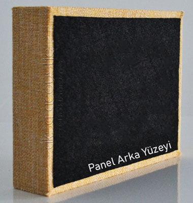 akustik kumaş kaplı panel detayı