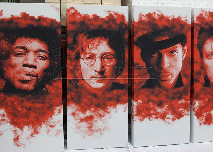 akustik kumaş kaplı pano tablo