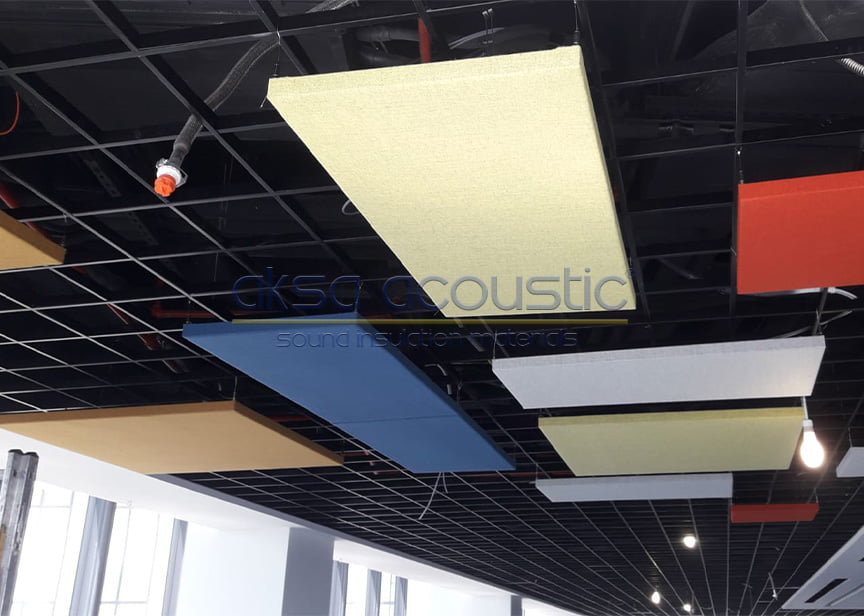 akustik mesh yüzer tavan paneli sistemleri