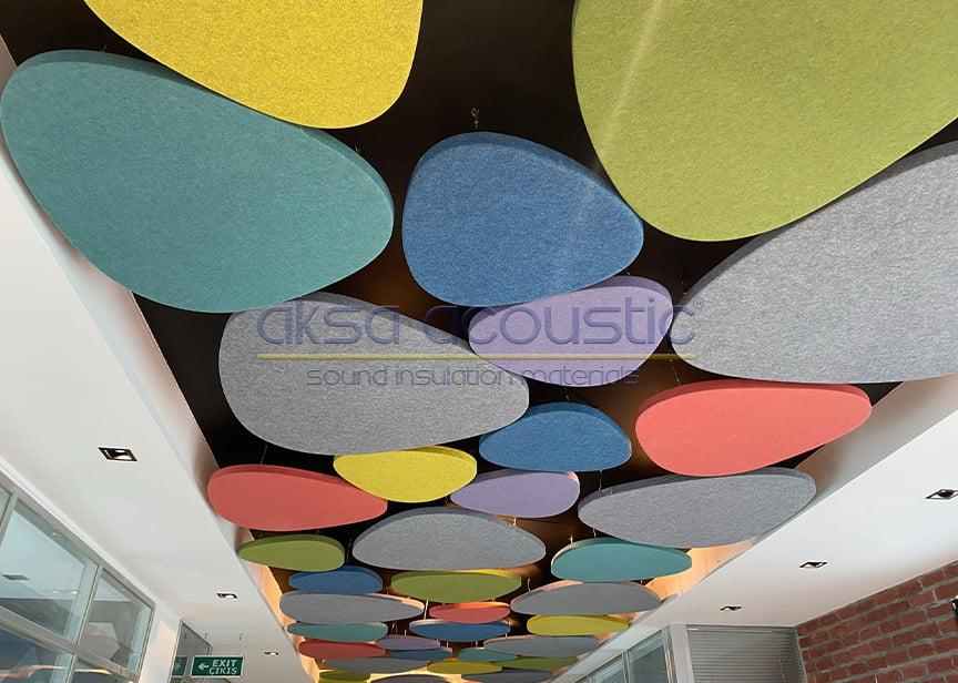 akustik taş model yüzer tavan paneli