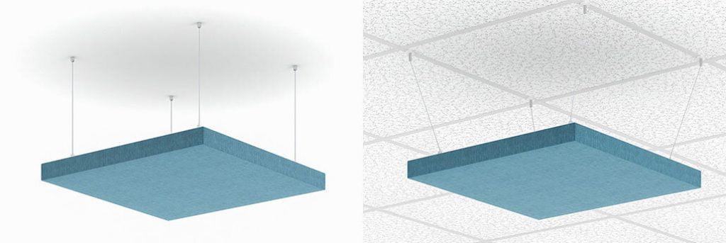 akustik yüzer tavan paneli uygulama detayı
