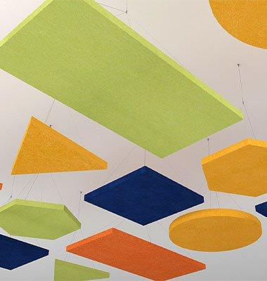 akustik yüzer tavan paneli modelleri