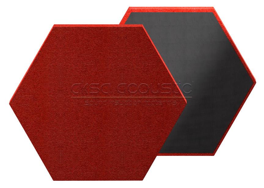 altıgen akustik kumaş kaplı panel