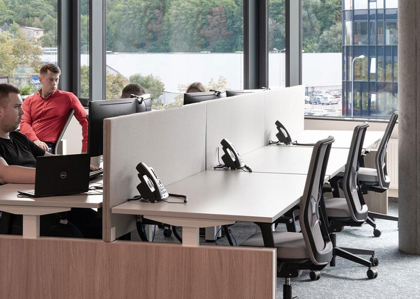 çağrı merkezi ofis mobilyaları seperatörü