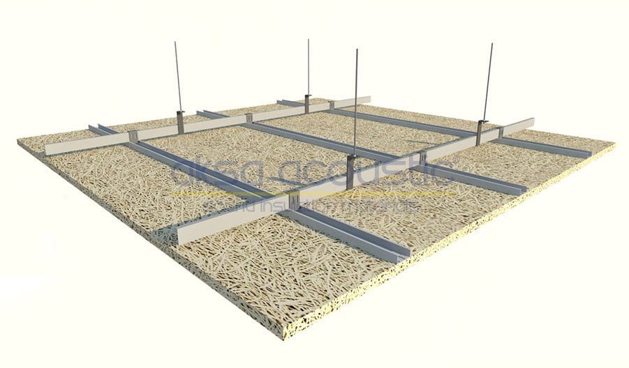 heraklite akustik yüzer tavan paneli
