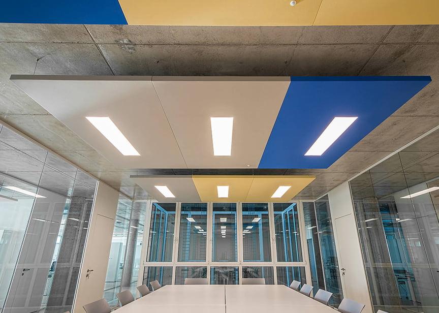 ışıklı akustik tavan paneli