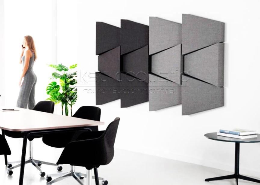 kumaş kaplı 3 boyutlu duvar paneli