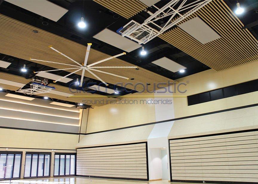 linear akustik ahşap baffle panel