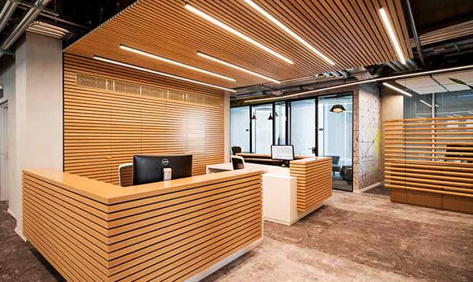 linear akustik ahşap doğrusal paneller