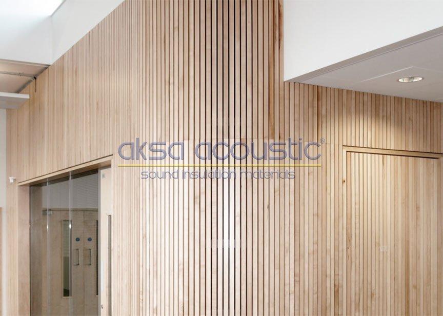 linear akustik ahşap duvar paneli