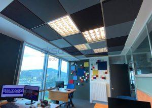 sarkmalı t24 akustik kumaş kaplı panel