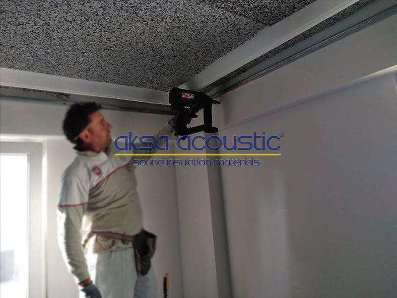 ses yalıtım süngeri tavan ses yalıtımı uygulaması