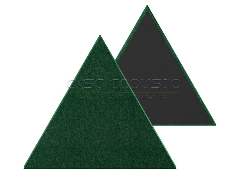 üçgen akustik kumaş kaplı panel