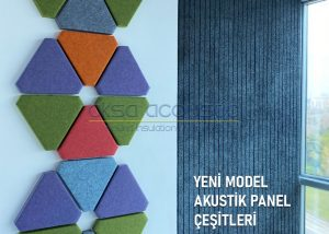 yeni model akustik kumaş kaplı paneller
