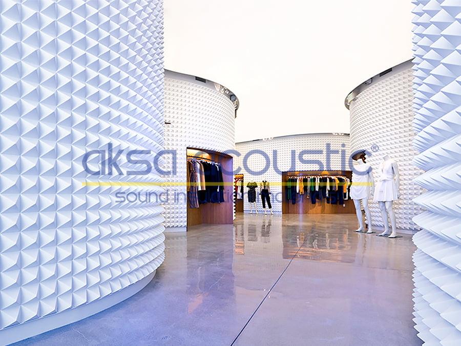 acoustic fabric panels pyramid