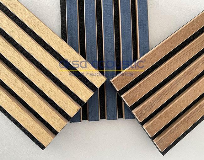 akustik ahşap çıtalı keçe panel