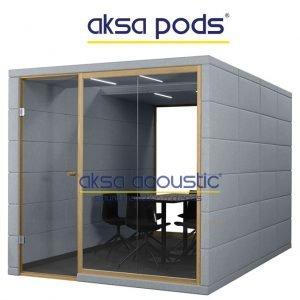 akustik ofis toplantı kabinleri