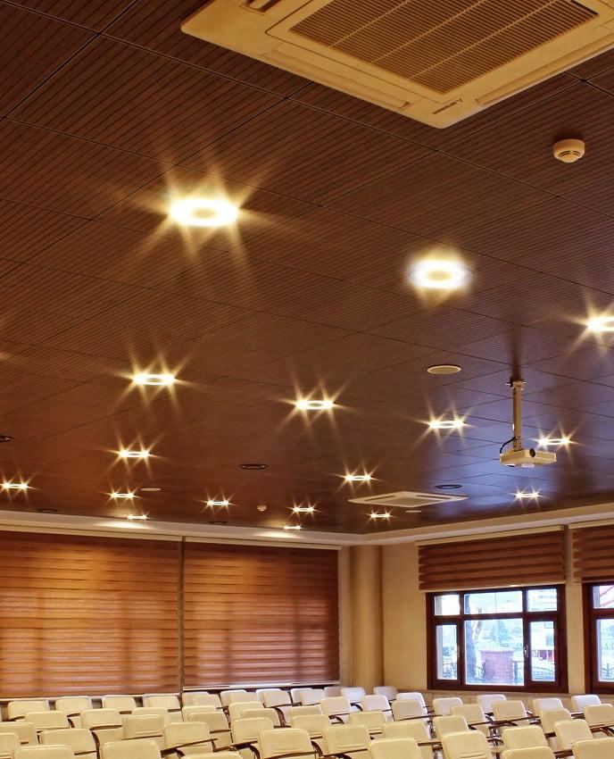 akustik ahşap asma tavan paneli fiyatları