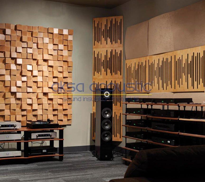 akustik ahşap difüzör basstrap paneller