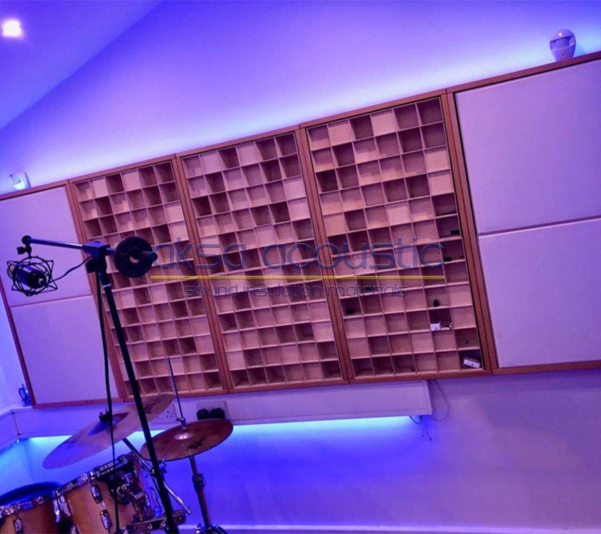 akustik ahşap difüzör duvar kaplama