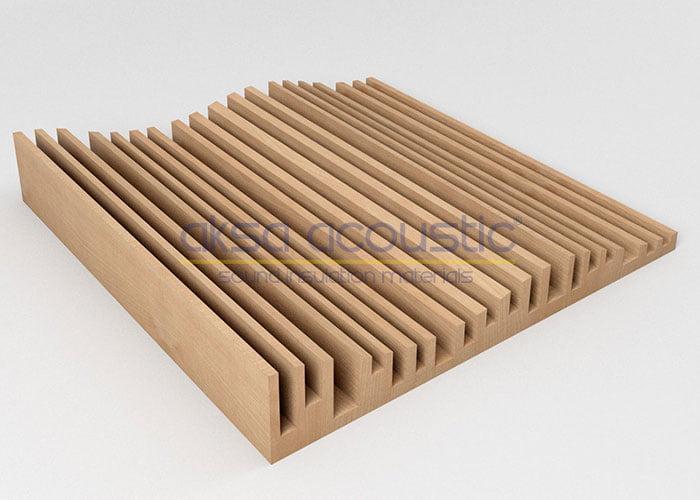 akustik ahşap difüzör panelleri