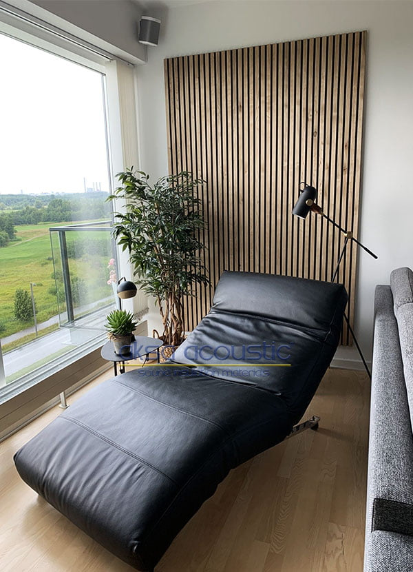akustik ahşap keçeli duvar paneli