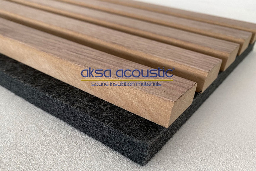 akustik ahşap panel polyester keçe panel