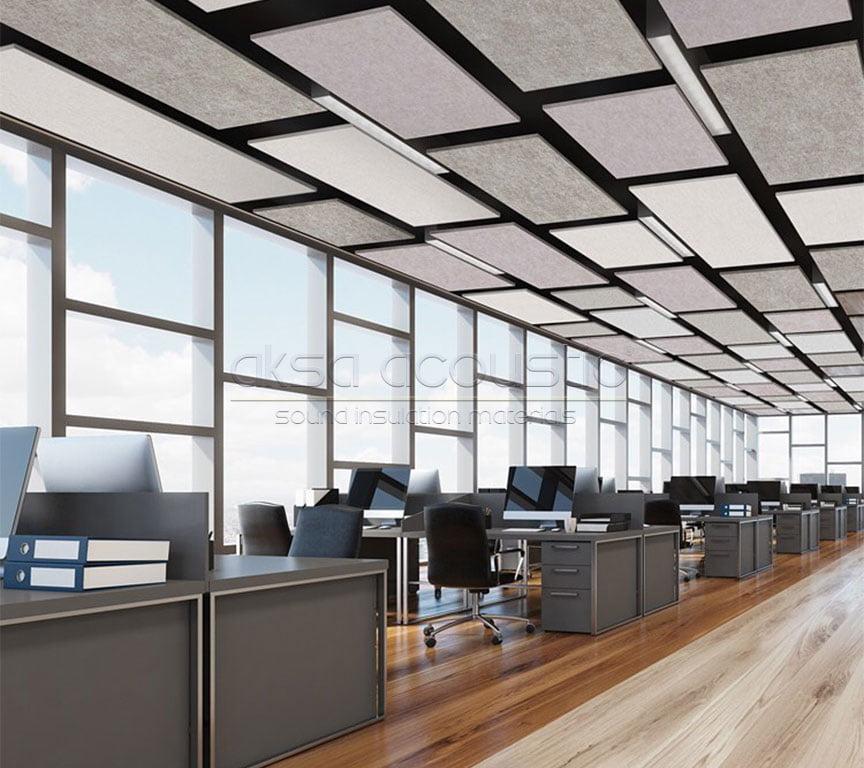 akustik canopy tavan keçe paneli