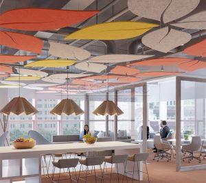 akustik canopy tavan paneli keçe