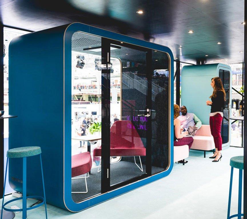 akustik görüşme kabini akustik ofis kabini