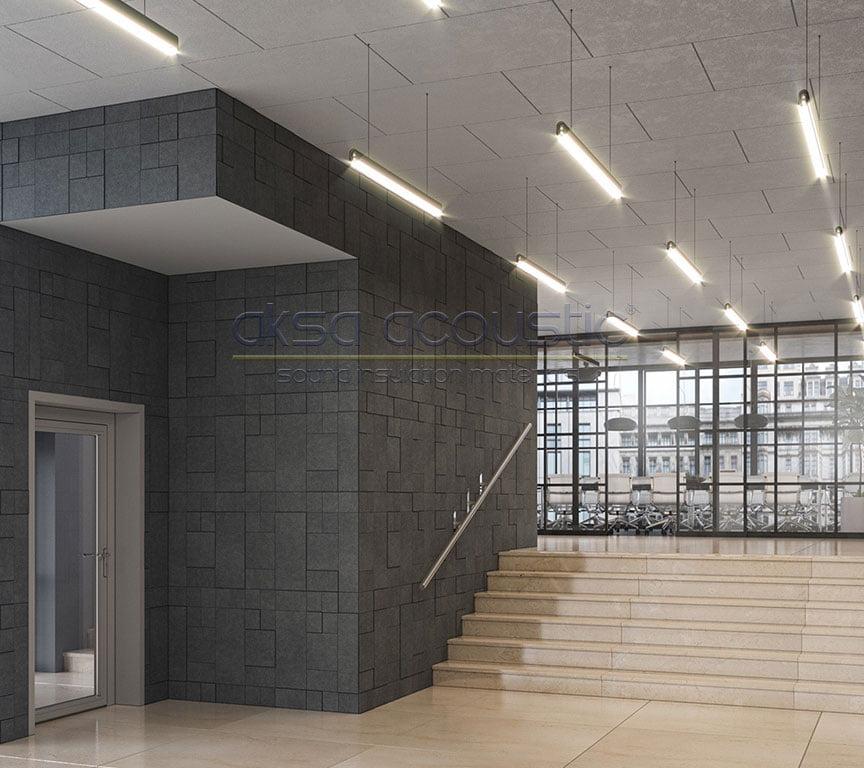 akustik keçe duvar tavan paneli