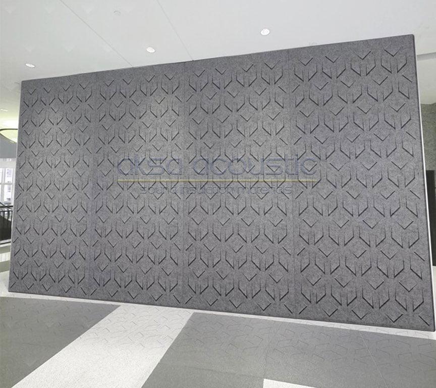 akustik keçe özel üretim duvar paneli