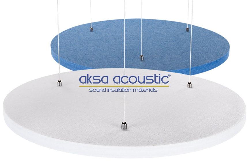 akustik keçe yüzer tavan