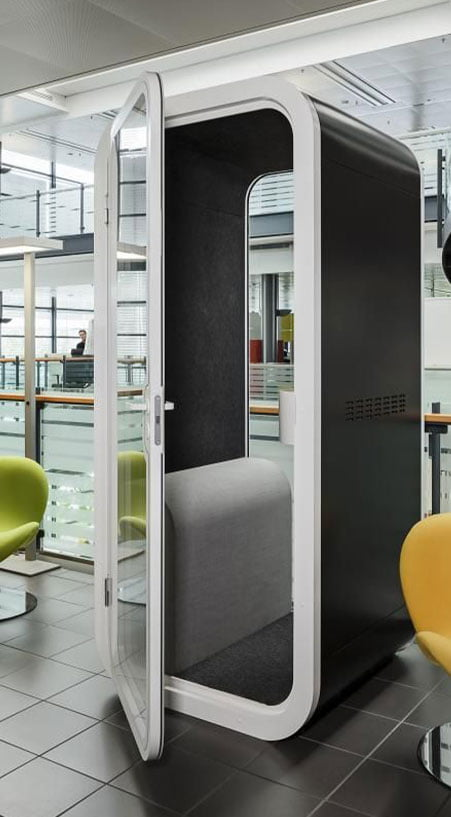 akustik ofis kabini telefon görüşme kabini