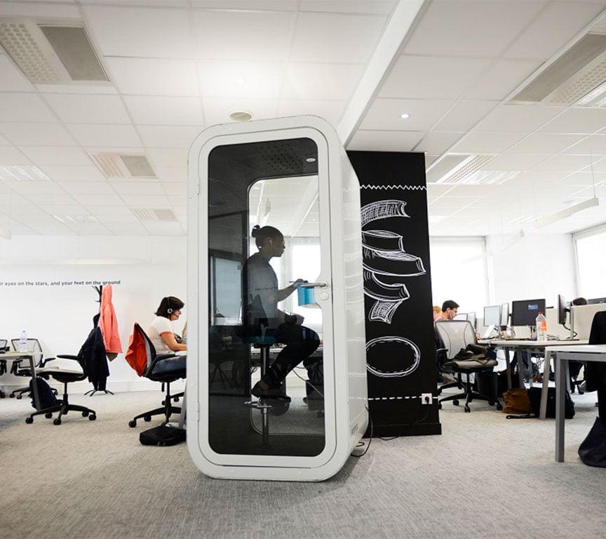 akustik ofis kabini telefon