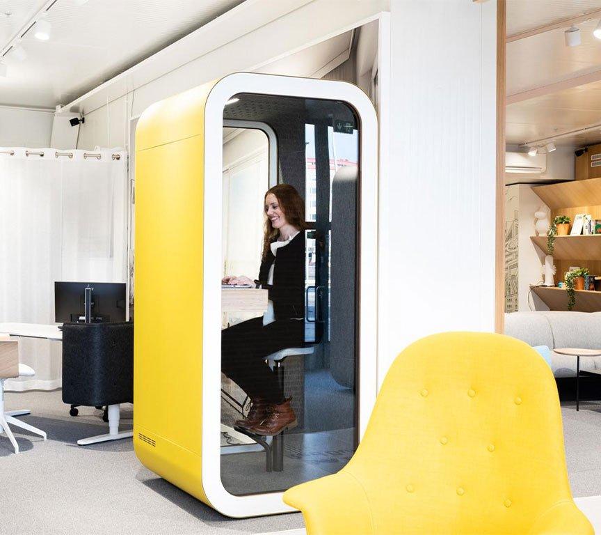 akustik ofis telefon çalışma kabini